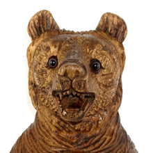 "Load image into Gallery viewer, Large 18"" Tall Black Forest Style Carved Wood Bear"
