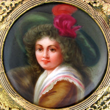 Load image into Gallery viewer, Antique Gilt Bronze Jewelry Box Hutschenreuther Porcelain Portrait
