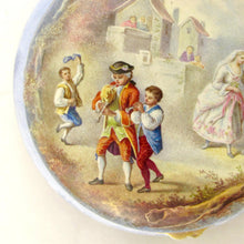 Load image into Gallery viewer, Antique French 800 Silver Gilt Vermeil Viennese Enamel Snuff Box Wedding Scene
