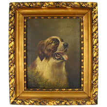 Load image into Gallery viewer, British Artist L. M. Webb Signed Saint Bernard Dog Portrait Painting