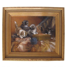 Load image into Gallery viewer, Four Playful Kittens Dutch Oil Painting by Jan Van Trirum