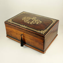 Load image into Gallery viewer, Large Antique French Scarf Box, Cashmere Chest