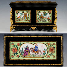 Antique French Chinoiserie Tea Caddy, Porcelaine de Paris Canisters