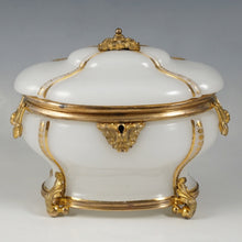 Load image into Gallery viewer, Antique French Opaline Glass Casket Box