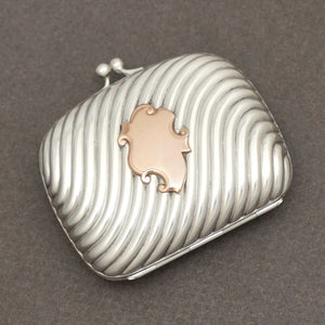 Antique French .800 Silver Purse Compact Mirror