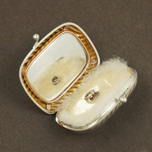 Load image into Gallery viewer, Antique French .800 Silver Purse Compact Mirror