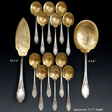 Load image into Gallery viewer, 14pc Antique French Sterling Silver Flatware Dessert Set