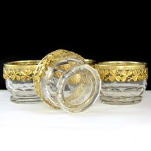 Load image into Gallery viewer, Antique French Sterling Silver & Cut Crystal Open Salt Cellars