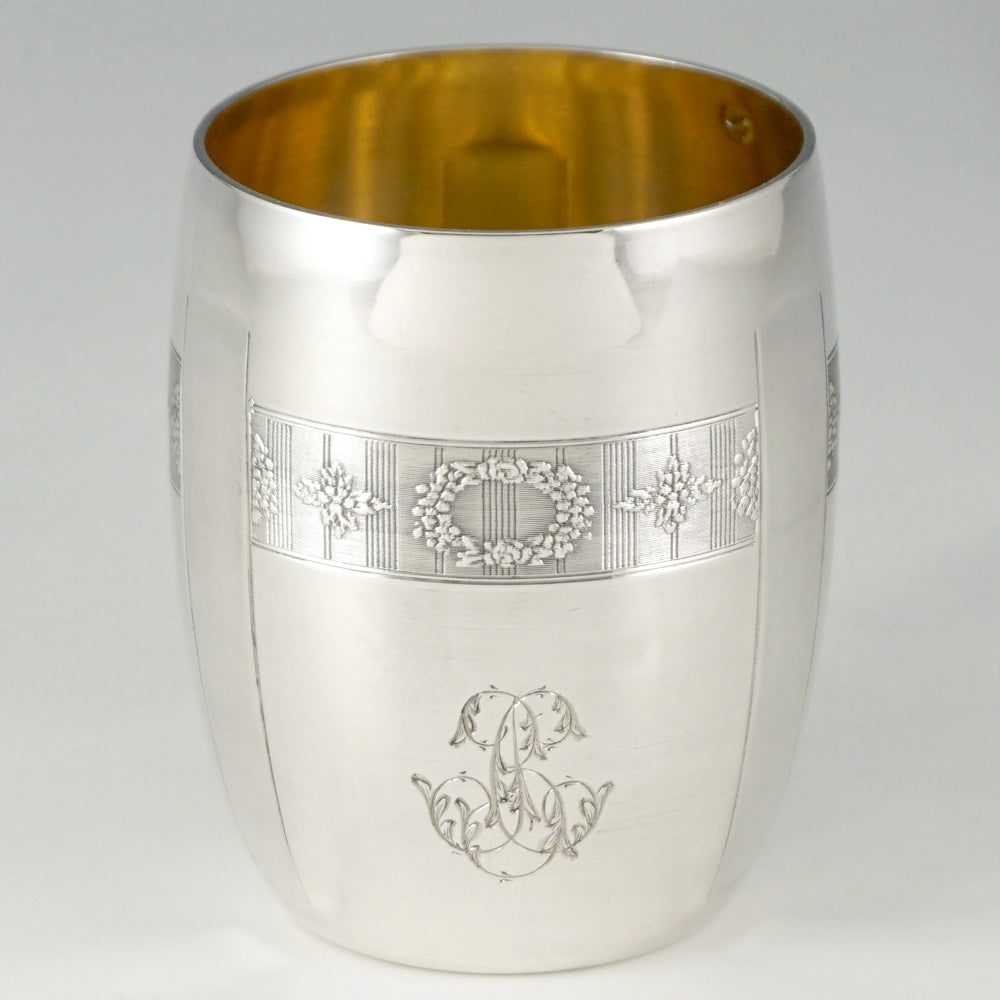 French .800 (nearly sterling) Silver Cup, Tumbler or