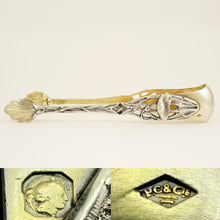 Load image into Gallery viewer, Art Nouveau French Sterling Silver & Gilt Vermeil Sugar Tongs