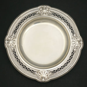 Antique French Sterling Silver Centerpiece Tazza / Footed Tray