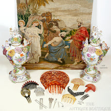 Load image into Gallery viewer, Petit Point Hand Done Needlepoint Tapestry Berlin Wool Needlework Wall Hanging Religious Biblical Scene