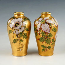 Load image into Gallery viewer, French Limoges Porcelain 3pc Garniture Set, Pair of Vases & Urn