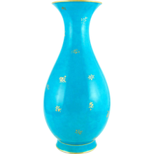 "Load image into Gallery viewer, 13"" Antique Sevres French Porcelain Turquoise Blue Vase"
