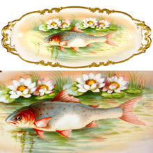 Load image into Gallery viewer, 14pc Antique French Limoges Porcelain Signed Hand Painted Fish Set