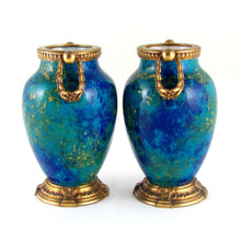 Load image into Gallery viewer, Paul Milet for Sevres Pair French Porcelain Vases, Gilt Bronze Mounts