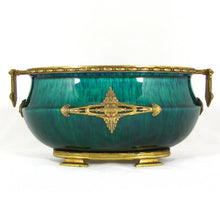 Load image into Gallery viewer, Paul Milet for Sevres French Porcelain Jardiniere, Flambe Glaze, Signed DELAUNAY Bronze Mounts