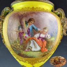 Load image into Gallery viewer, Antique French Sevres Style Hand Painted Porcelain Urn