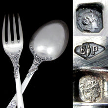 Load image into Gallery viewer, PUIFORCAT Antique French Sterling Silver 3pc Traveler's Dinner Flatware Set