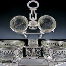 Load image into Gallery viewer, Ambroise Mignerot Antique French Sterling Silver Grand Double Salt Cellar