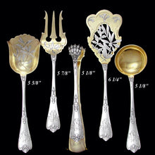 Load image into Gallery viewer, Antique French Sterling Silver Gilt Vermeil Hors d'Oeuvre Servers