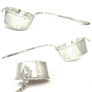 Large Antique French Sterling Silver Tea Strainer by Henri Soufflot