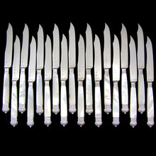 Antique French Sterling Silver Table Knives, Knife Set