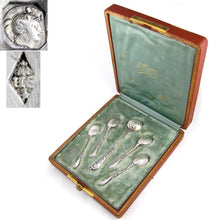 Load image into Gallery viewer, Antique French Sterling Silver Salt & Mustard Spoons Condiment Set