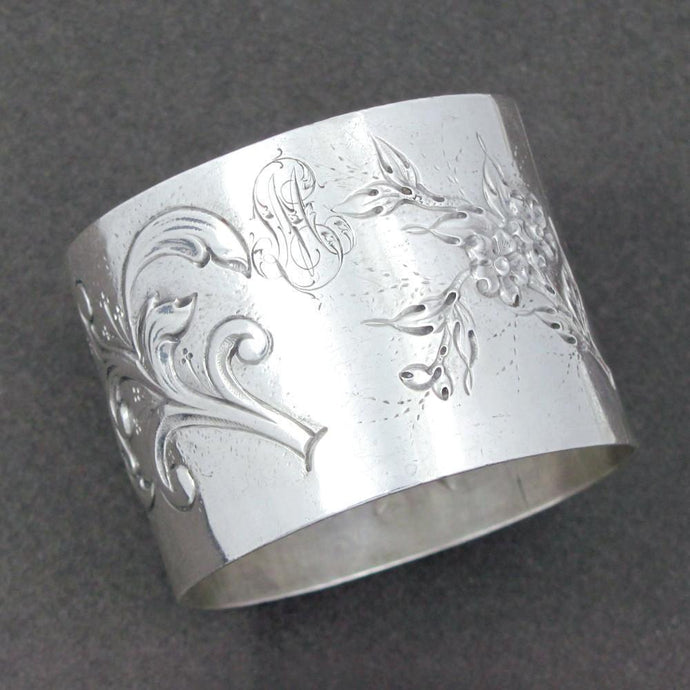 Antique French sterling napkin ring