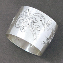French napkin ring sterling silver