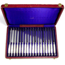 Load image into Gallery viewer, Boxed Set of 18 Antique French Sterling Silver Table Knives