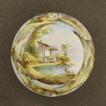 Load image into Gallery viewer, Antique French Kiln-Fired Enamel & Silver Hinged Box