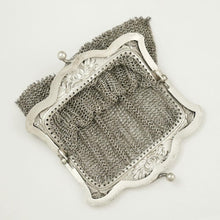 Load image into Gallery viewer, Art Nouveau French .800 Silver Chain Mail Mesh Chatelaine Purse