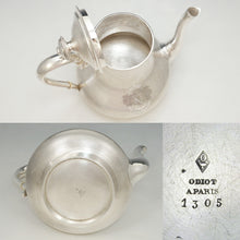 Load image into Gallery viewer, ODIOT - Antique French Sterling Silver Coffee Pot or Teapot in Box, 811.3g