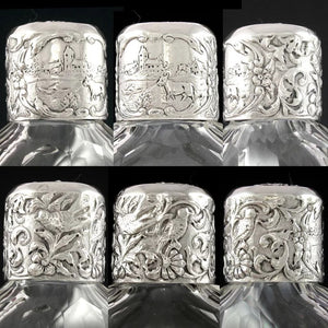 Superb Dutch .833 Silver & Cut Glass Flask