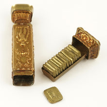 Load image into Gallery viewer, Antique French Bronze Multiple Wax Seal Set Etui, Multiple Matrices