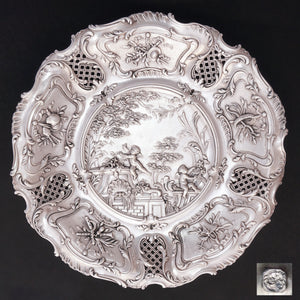 french sterling silver dish round tray