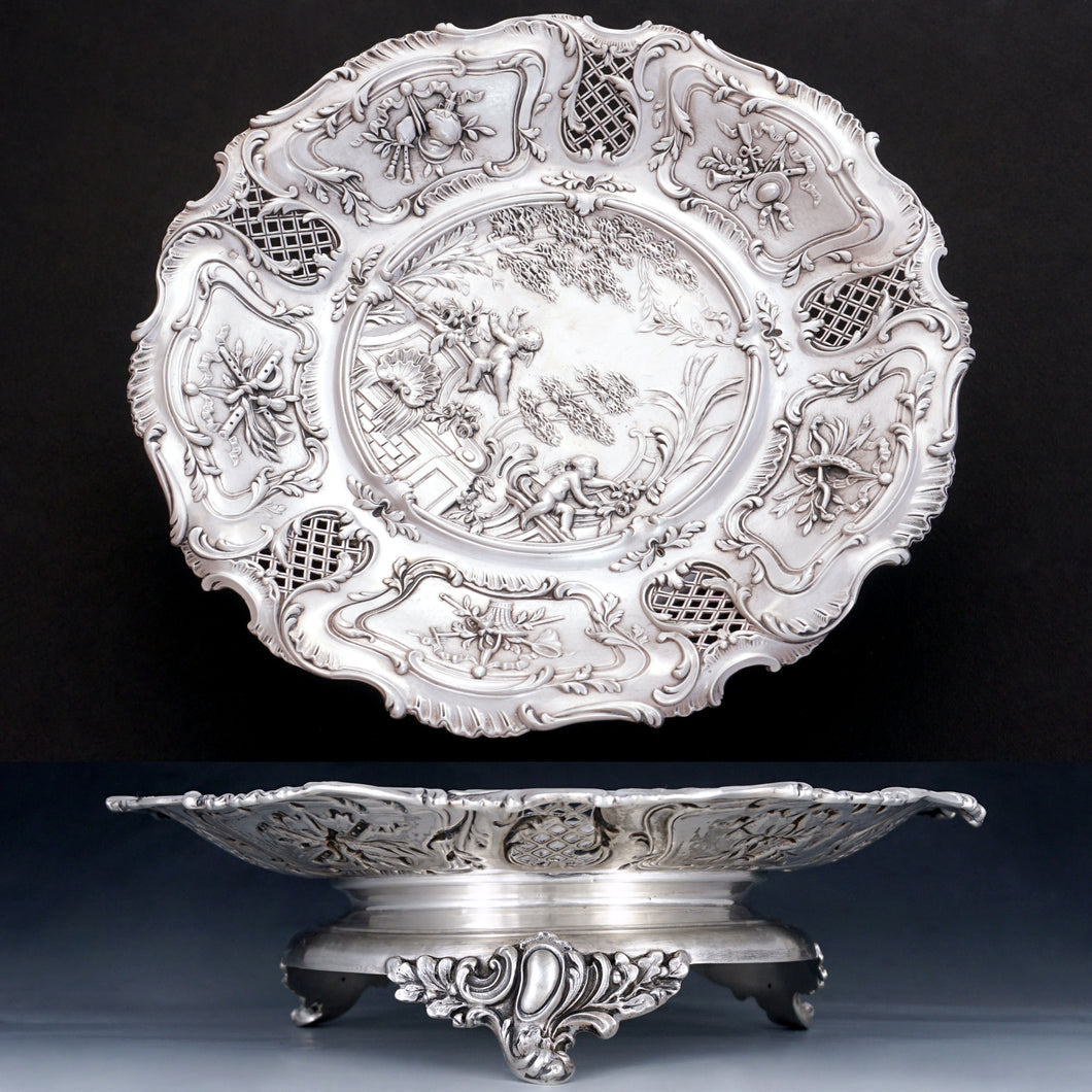 antique french silver compote tray