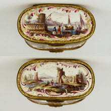 Meissen porcelain box harbor ships boats
