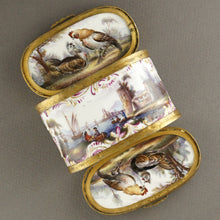Meissen porcelain double sided snuff box, hand painted
