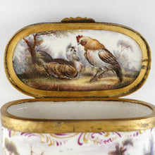 Load image into Gallery viewer, Meissen porcelain hand painted rooster & hen farm scene