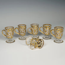 Load image into Gallery viewer, Antique Bohemian Moser enamel glass cordial cups