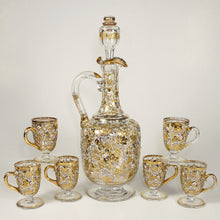 Load image into Gallery viewer, Moser enamel glass liquor set, decanter