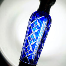Load image into Gallery viewer, French Sterling Silver Cobalt Blue Glass Flask
