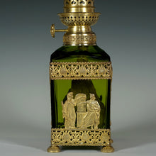 Load image into Gallery viewer, Antique Napoleon III era Baccarat crystal oil lamp French gilt bronze ormolu
