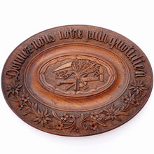 Load image into Gallery viewer, Antique Swiss Black Forest Hand Carved Wood Oval Bread Tray Platter, Emile Egger