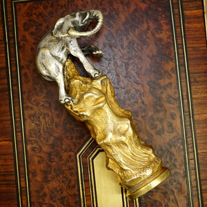 Antique French Silvered & Gilt Bronze Figural Elephant Wax Seal