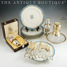 Load image into Gallery viewer, The Antique Boutique - French sterling silver, flatware, dessert plates