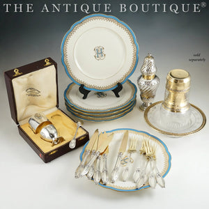 The Antique Boutique - French sterling silver, flatware, dessert plates
