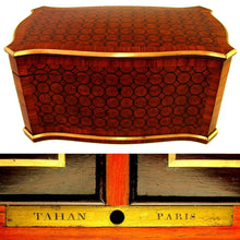 Load image into Gallery viewer, Antique French Tahan Paris Tea Caddy Box